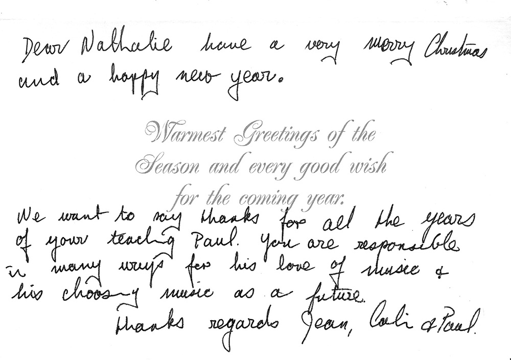 Greetings Letter from Jean