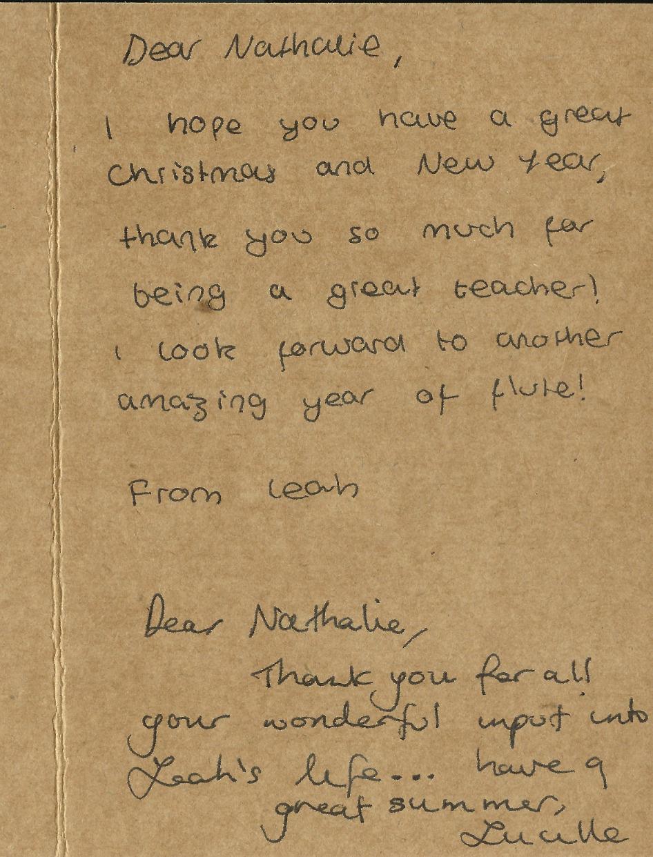 Testimonial Letter from Lucille