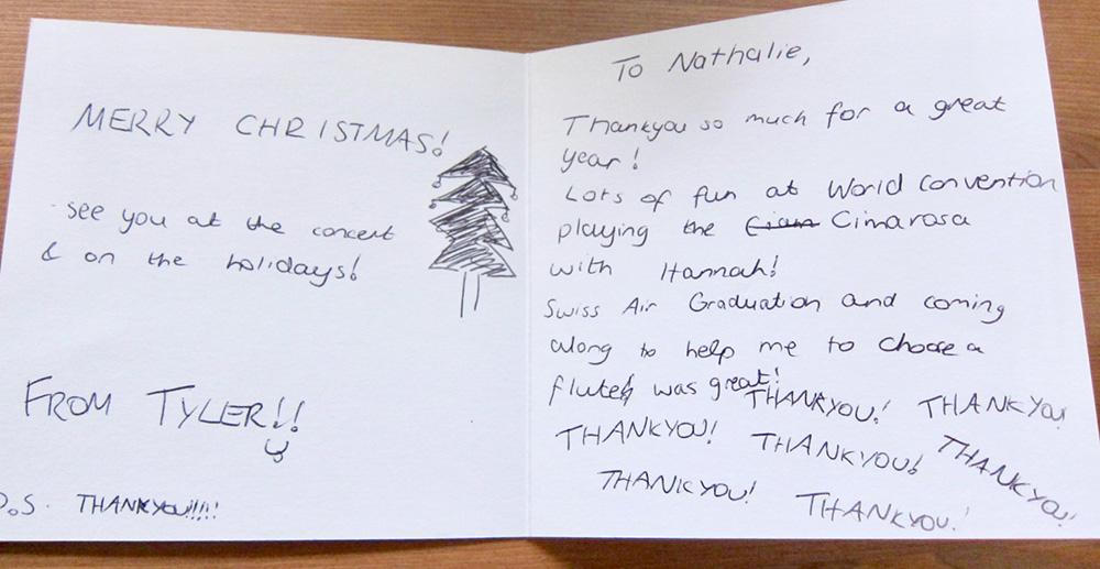 Greetings Letter from Tyler