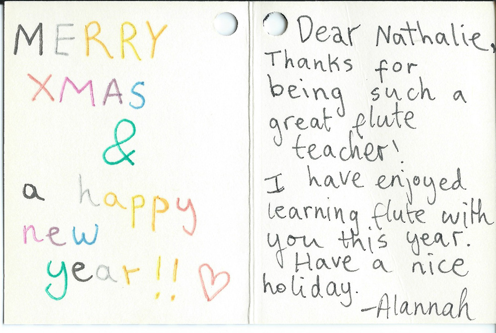 Greetings Letter from Alannah