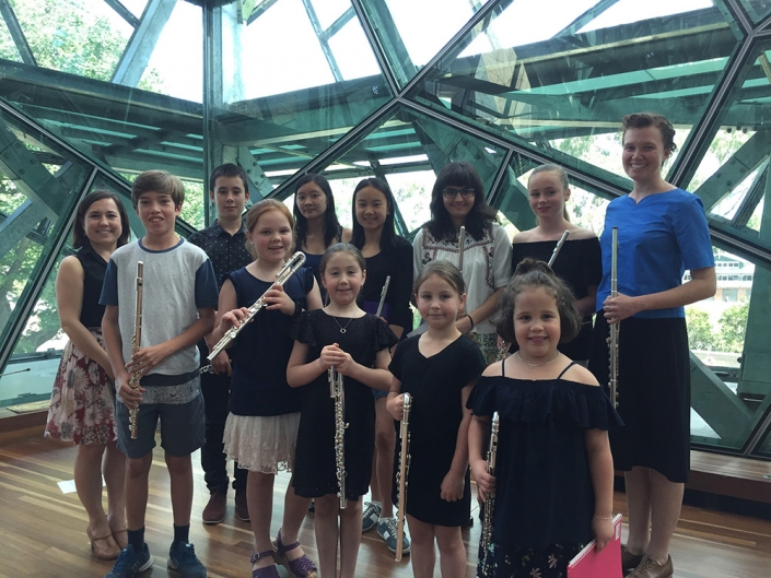 Flute students at the End of Year concert.