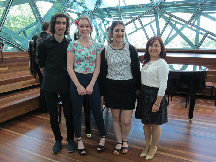 Trailblazers after a performance at Deakin Edge, Federation Square.